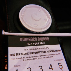 here we go again!: san diego asian film fest voting card | (c) asienne 2019